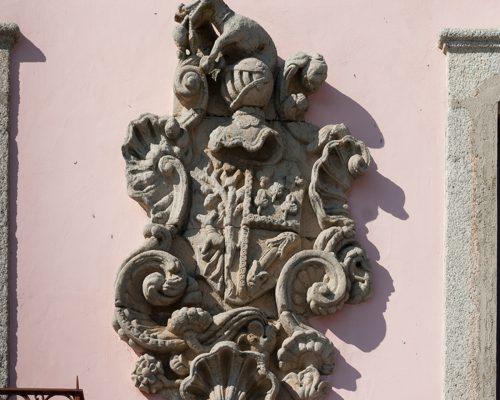 Wappengeschmücktes Haus vom Brigadier Vicente Delgado Freire