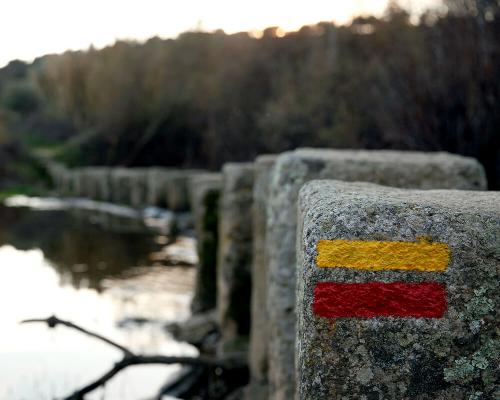"""Schrittsteine auf dem """"Pônsul"""" Fluss"""