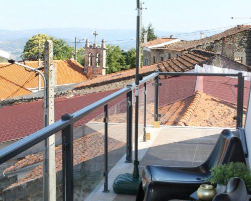 varanda com vista panorâmica das Serras